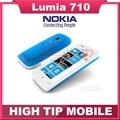 Abierto original nokia lumia 710 teléfono móvil wifi 3g gps 5mp 3.7 ''pantalla táctil reformado 8 gb de almacenamiento interno freeshipping