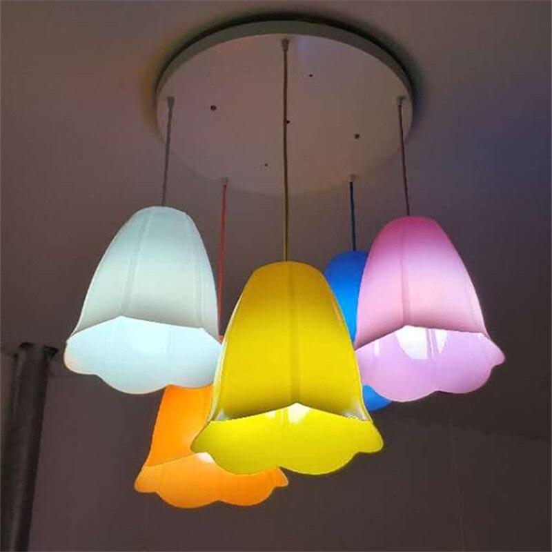 Kreative Bunte Nordic Kronleuchter PVC Hängen Lampenschirm Restaurant  Esszimmer Schlafzimmer Küche Lampe Pedant Beleuchtung Dekor