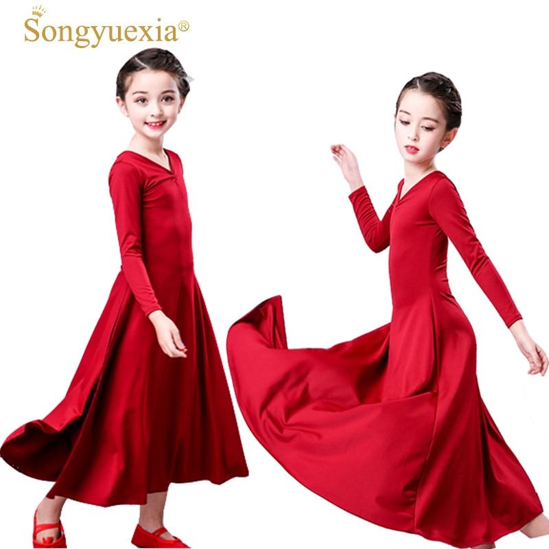 songyuexia-red-children-spirit-modern-font-b-ballet-b-font-dance-dress-long-sleeve-party-show-costumes-girl-font-b-ballet-b-font-dance-skirt