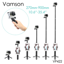 Vamson voor Gopro Hero 7 6 5 Statief Monopod Verstelbare Selfie Stick voor Telefoon voor GoPro accessoires voor Xiaomi Yi SJCAM VP422