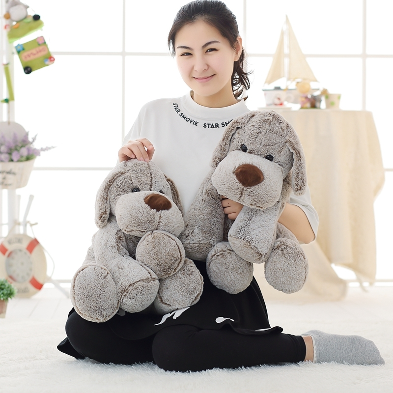 45 Cm Soft Yoga Dog Plush Toy Pillow Stuffed Animal Company Toys For Children Sofa Cushion
