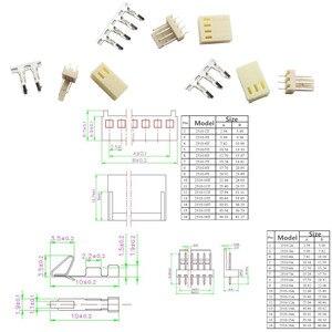 10 Set DIY Kits 4 Pin KF2510-4P KF2510-3P KF2510-2P 2P/3P/4P 2.54mm Pitch Terminal Housing Pin Header Connectors Adaptor Kits