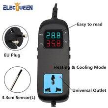 Цифровой терморегулятор для отопления и охлаждения, AC 90 V-250 V умный цифровой термостат, инструменты для домашнего пивоварения