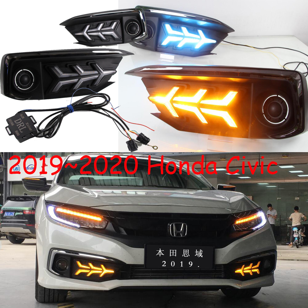 2pcs per set car day lamp for honda civic daytime running light car accessories 2019 2020y