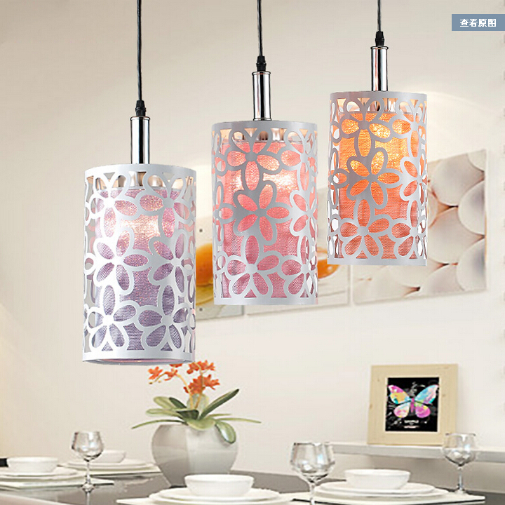 ФОТО Modern creative elegant pendant light Fashion minimalist floral single or three lamps fixtures for bar living room garden stairs