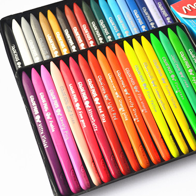 36 Color Crayons For Kids Creative Arts Painting Graffiti Safe Non-toxic Student School Supplies Painting Pen Child Baby Crayon