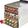 Сушилка для фруктов и овощей  Электрический Дегидратор с интеллектуальным управлением  12 Светодиодный  нержавеющая сталь