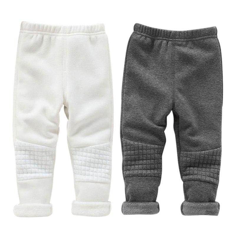 Invierno Bebé Niñas Leggings niños calientes Pantalones básica cintura  elástica gruesa flaco Pantalones para la muchacha ropa 0966cb188b0ed