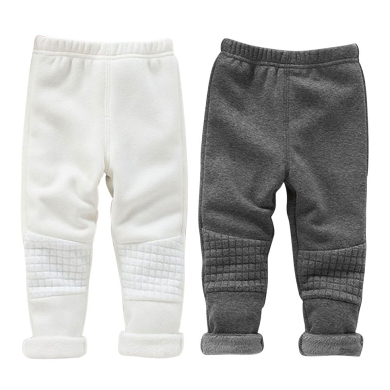 Winter Warm Baby Kid Girls Leggings Pants Basic Elastic Waist Thick Skinny Trousers X16 grey summer girls short leggings triple ruffle panties for children baby elastic waist skinny shorts pants