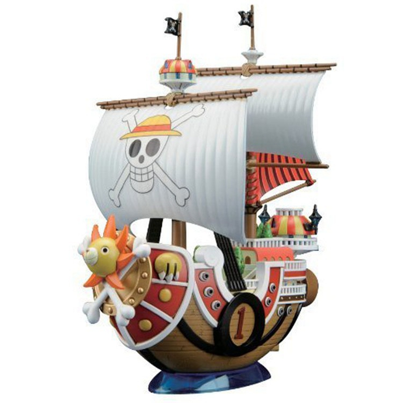 kawaii Anime Thousand Sunny Pirate Ship Model Building Blocks girl toy PVC Collection Block toys for children boys gifts lepin 22001 pirate ship imperial warships model building block briks toys gift 1717pcs compatible legoed 10210
