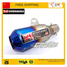 Motorcycle Scooter Akrapovic escape pipe yoshimura Exhaust Muffler pipe ttr GY6 CBR CBR125 CBR250 CB400 CB600