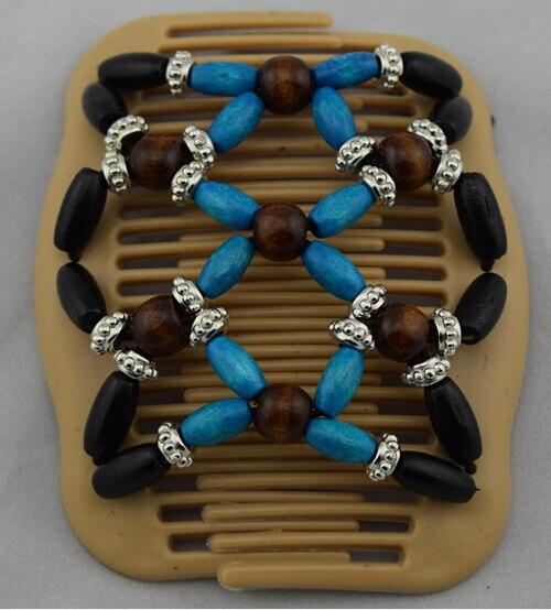 Blue black brown silver beads magic comb 12 pcs/lot classical comb easy updo special christmas comb