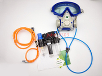 3 Em 1 Função Fornecido Ar Frio Alimentado Sistema SJL Respirador Máscara de Gás Rosto Cheio
