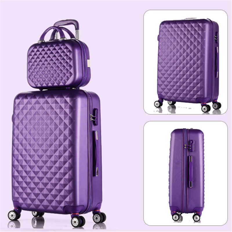 f27fd9c13 ... Wholesale!14 20inches abs pc case travel lluggage bags set,korea fashion  style diamond