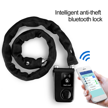 Bicycle Smart Alarm Bluetooth Locks Phone APP Control Anti Theft 105dB Alarm Chain Lock for Bike Motorcycle 1