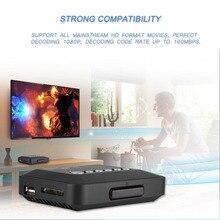 1080P Full HD HDMI Audio wideo odtwarzacz multimedialny z pilotem zdalnego sterowania na podczerwień 110V 240V obsługuje USB jazdy samochodem przenośny dysk twardy