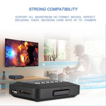 Scatola per lettore multimediale Audio Video HDMI Full HD 1080P con telecomando IR 110V 240V supporto disco rigido mobile per unità USB