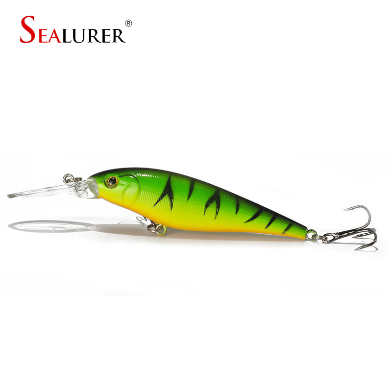 1PCS 11cm 10.5g Minnow fishing lure crankbait iscas artificiais Fishing wobblers 6# hook 3D eyes leurre souple WQ73
