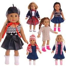 Костюм LUCKDOLL из 3 предметов, блейзер, платье и шляпа, комплект одежды, американский размер 18 дюймов, 43 см, аксессуары для белья, игрушки для дев...