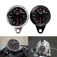 12V Universal Motorcycle Speedometer Tachometer Gauge W LED Backlight