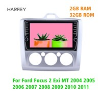 Harfey 9 inch GPS Head Unit 2din Android 8.1 Car Radio For Ford Focus 2 Exi MT 2004 2005 2006 2007 2011 Multimedia Player Stereo