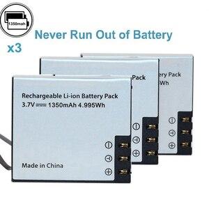 Image 5 - Nova bateria da câmera da ação 1350 mah e carregador de bateria duplo para sjcam sj4000 sj5000 eken h9r/h9 h8r/h8 m10 gitup dbpowe soocoo
