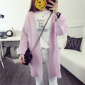 De DoveHitz long sweater coat female Korean Institute of wind loose knit cardigan sweater cardigan Korean version of the fall