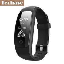 Techase фитнес-трекер gps браслет монитор сердечного ритма smartband браслет шагомер синхронизации сенсорный экран Поддержка Android IOS