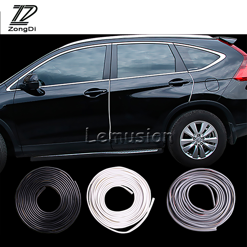 1set 5m Car Door Protection Strip Scrap Stickers For Mini