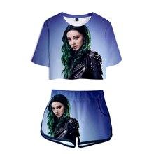 цена на Summer cool sports women's short-sleeved t-shirt 3D character print Polaris women's suit casual 3D t-shirt + shorts brand shirt