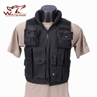 Police Tactical Jacket Outdoor Camouflage Military Vest Body Armor Sports Wear Hunting Vest Army Swat Vest Black