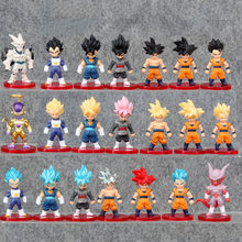 Tronzo 21 pçs/set Zamasu Freeza Dragon Ball Z Figura de Ação Goku Vegeta Vegetto DBZ Gohan PVC Action Figure Modelo Boneca brinquedos Presentes(China)