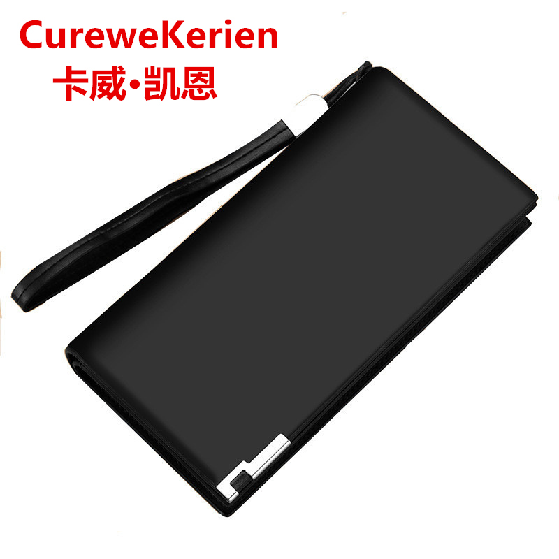curewe kerien Top Quality leather long wallet men pruse male clutch zipper around wallets men women money bag pocket ction curewe kerien brand men s genuine leather long zipper purse business wallet handbag