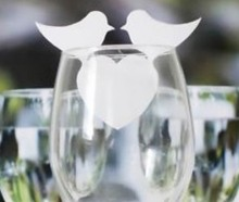 120pcs/lot Laser Cut humming bird shaped table name Place Card Escort Wine Glass Wedding baby shower Decoration wd108