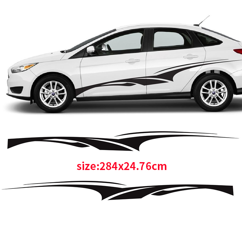YONGXUN,2pcs Twisted Churro 3M Vinyl Sticker Graphic Decal Side Stripe Ca for Ford 15 2016 DR-2005 free shipping hilux racing side stripe graphic vinyl sticker for toyota hilux first impressions