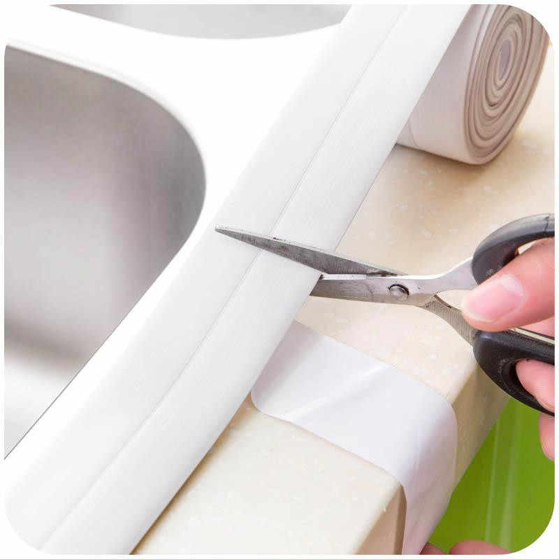 3,2 м x 3,8 см для дома, ванной, кухни, ПВХ настенные художественные наклейки, уплотнительная лента, герметизирующая лента, устойчивая к плесени, водонепроницаемая