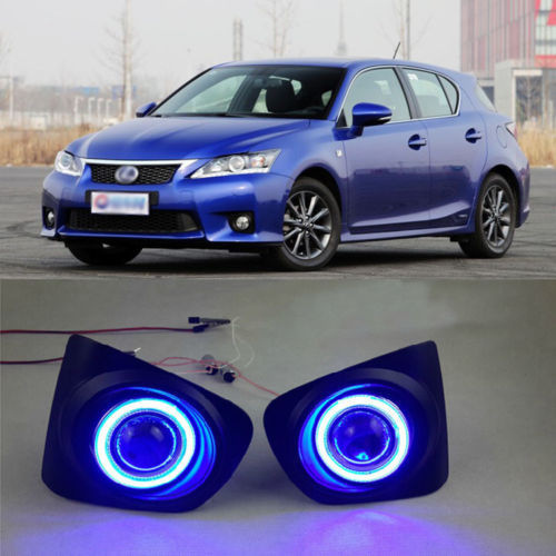 Ownsun New Innovative COB Fog Light Angel Eye Bumper Projector Lens for Lexus CT200h F-sport ownsun innovative super cob fog light angel eye bumper projector lens for toyota camry
