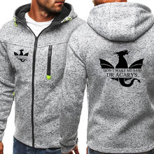 Not Today Design Fashion Mens Hoodie Jacket Casual Sweatshirts Autumn and Winter Hoody Coat