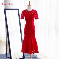 TaooZor Elegant Short Mother Of The Bride Dresses 2018 Lace Dress For Wedding Guest Knee Length
