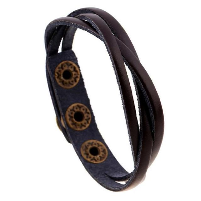 Leather Bracelets Men Women...