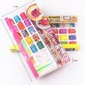 Nova Moda 5 Tipos Bandas Loom definir Fun Loom Borracha Kit DIY Pulseiras Coloridas Presente Toy Crianças Para Charm Bracelet pulseira