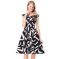 Iyasen Floral Print Vintage Summer Dress Women Tunic Sleeveless Vestidos Rockabilly Elegant Party Dresses