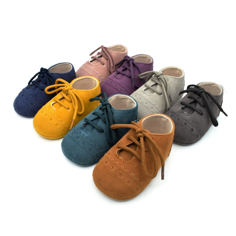 Infant Baby Girls Boys Spring Lace Up Soft Leather Shoes Toddler Sneaker Non-slip Shoes Casual Prewalker Baby Shoes 4
