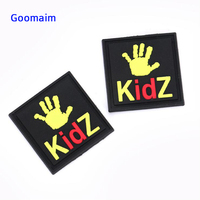 custom 3D PVC patch in Patches private label PVC label in garment labels sew on bags customized name