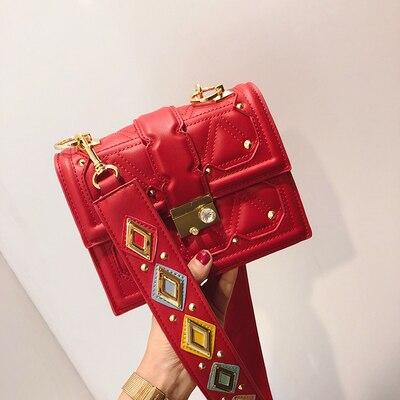 NEW Luxury Brand Winter/spring Diamond Gem Women Leather Handbag Colorful Strap Shoulder Bags Famous Designer Handbag Big Totes