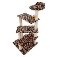M7 43 Stable Cute Sisal Cat Climb Holder Cat Tower Leopard Print E5M1