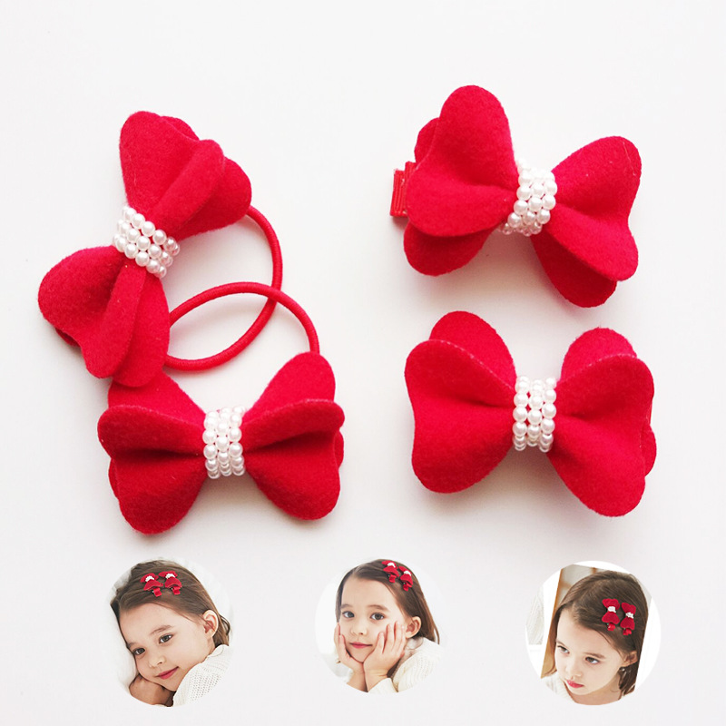 Apparel Accessories Korea Handmade Pearl Rubber Hair Band Hair Accessories Headwear Girls Headband For Women Hair Bows 5