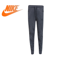 Original New Arrival Official NIKE ICON FLEECE WC PANT Men's Running Pants Sportswear Elastic Waist Cotton Polyester 809475 010