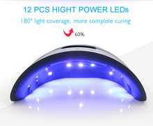 36W UV Lamp Nail Dryer For All Types Gel