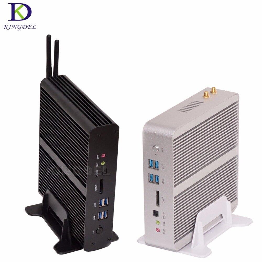 Nuevo lanzamiento sin ventilador htpc $ number ª generación mini pc core i7 5550